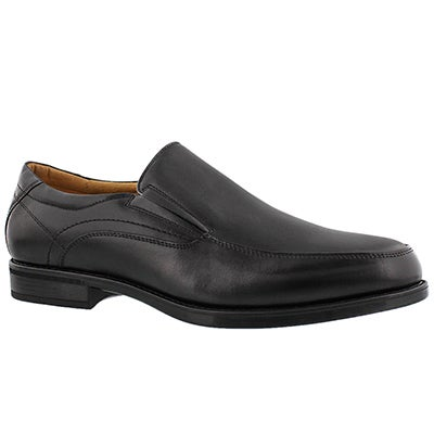 Mns Midtown Moc Slip blk dress shoe-wide