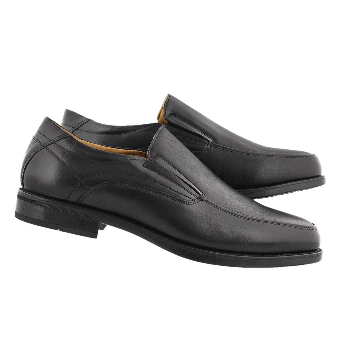 Mns Midtown Moc Slip blk dress shoe-wide