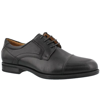 Mns MidtownCapToe blk dress oxford-wide