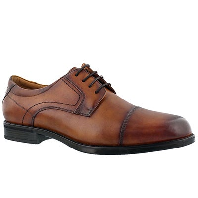 Florsheim Men's MIDTOWN CAP TOE cognac dress oxfords - Wide