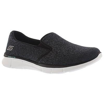 Skechers Women's SAY SOMETHING black slip on sneakers