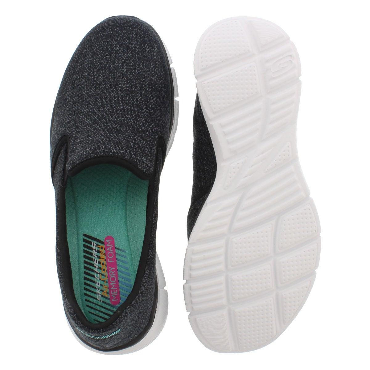 Lds Say Something black slip on sneaker
