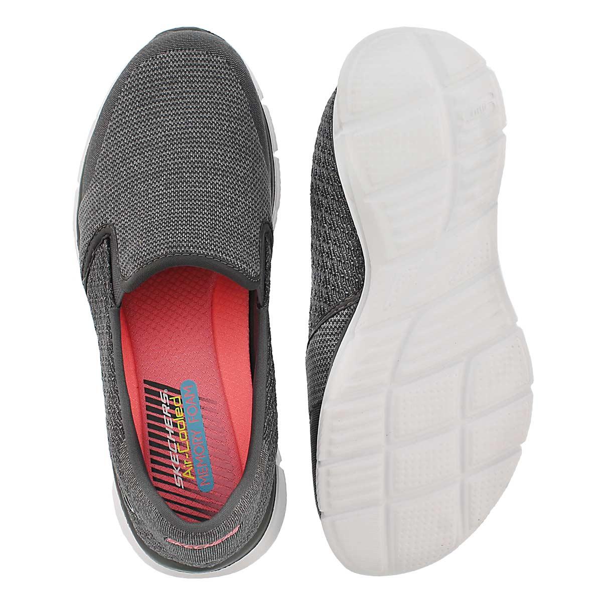 Lds Say Something grey slip on sneaker