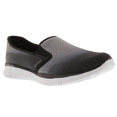Skechers Women's SPACE OUT grey/black slip on sneakers