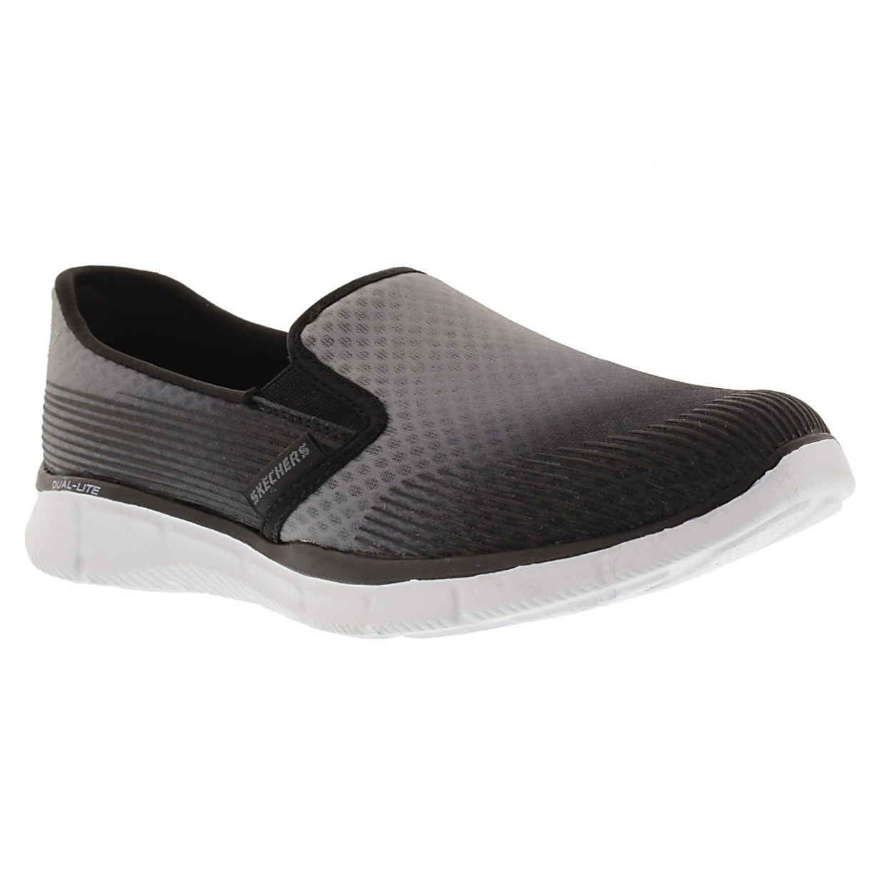 Lds Space Out gry/blk slip on sneaker