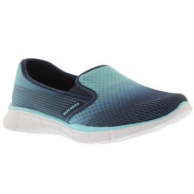 Skechers Women's SPACE OUT blue/navy slip on sneakers
