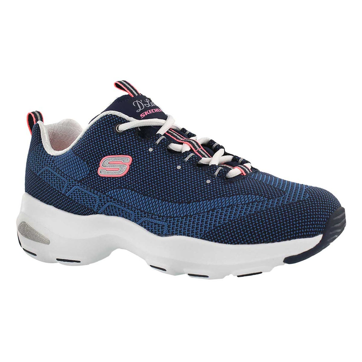 Lds D'Lites Ultra navy lace up snkr