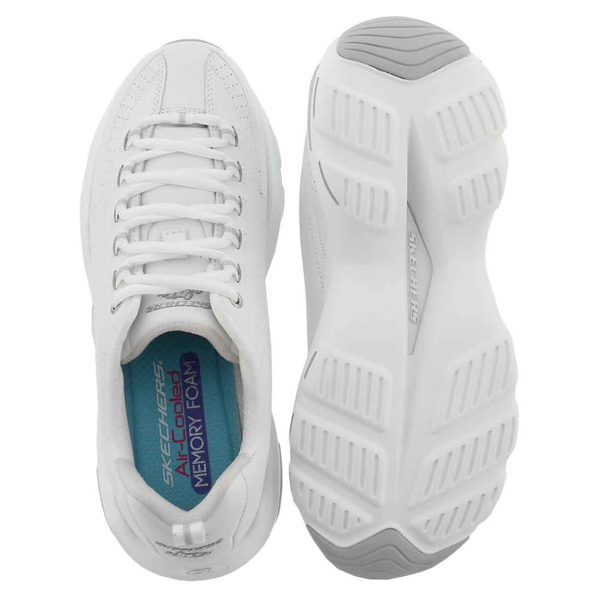 Lds D'Lite Ultra wht laceup sneaker-WIDE