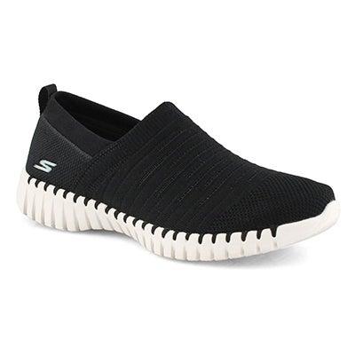 Lds GOwalk Smart Wise black slip on shoe