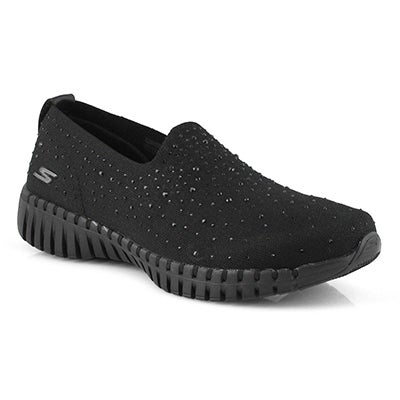 Lds GOwalk Smart blk/blk slip on shoe