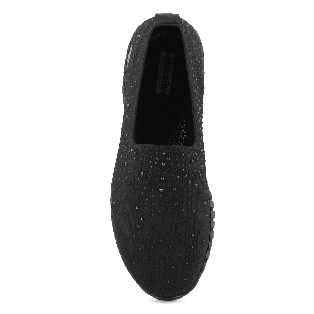 Lds GOwalk Smart blk/blk slip on shoe