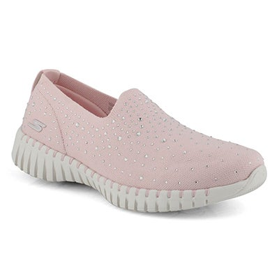 Lds GOwalk Smart lt pnk slip on shoe