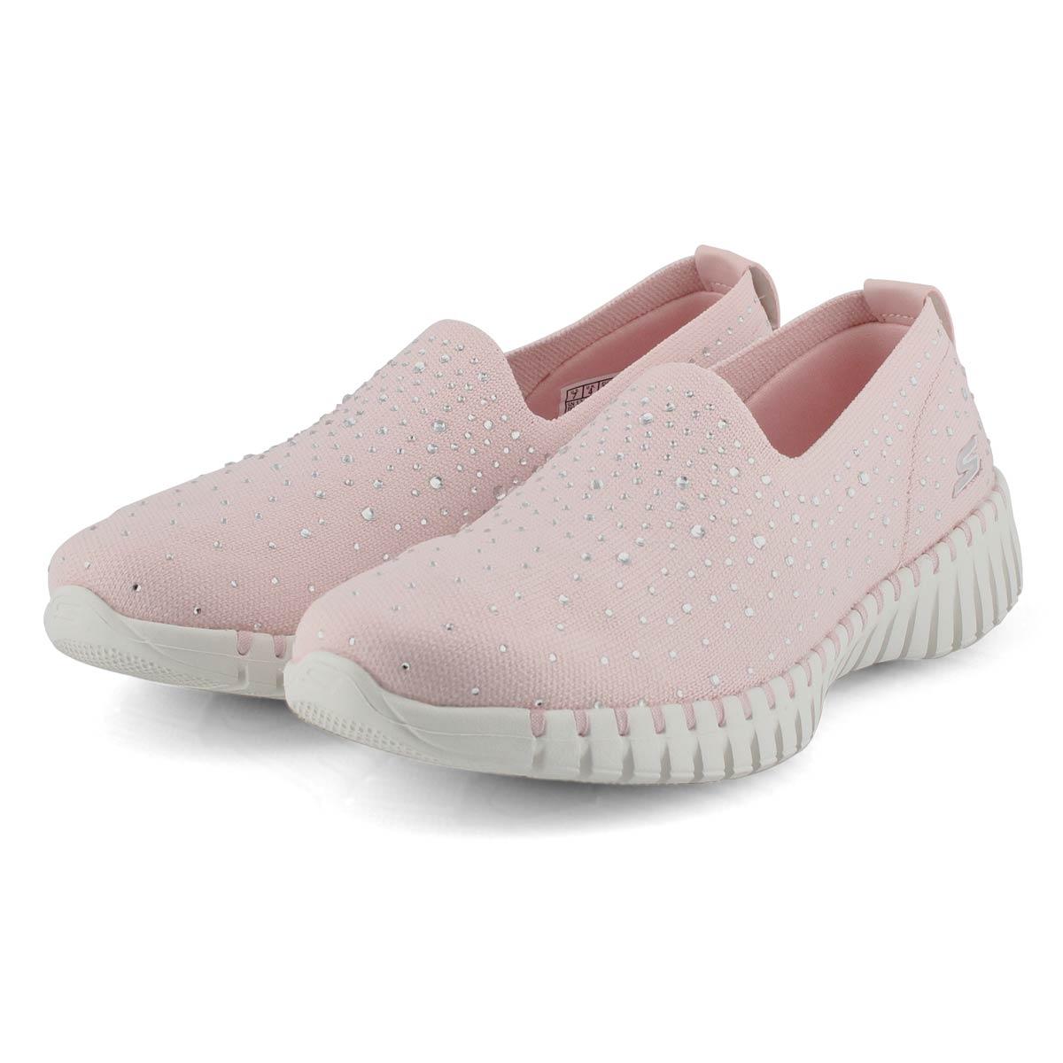 Lds GOwalk Smart lt pnk slip on shoe