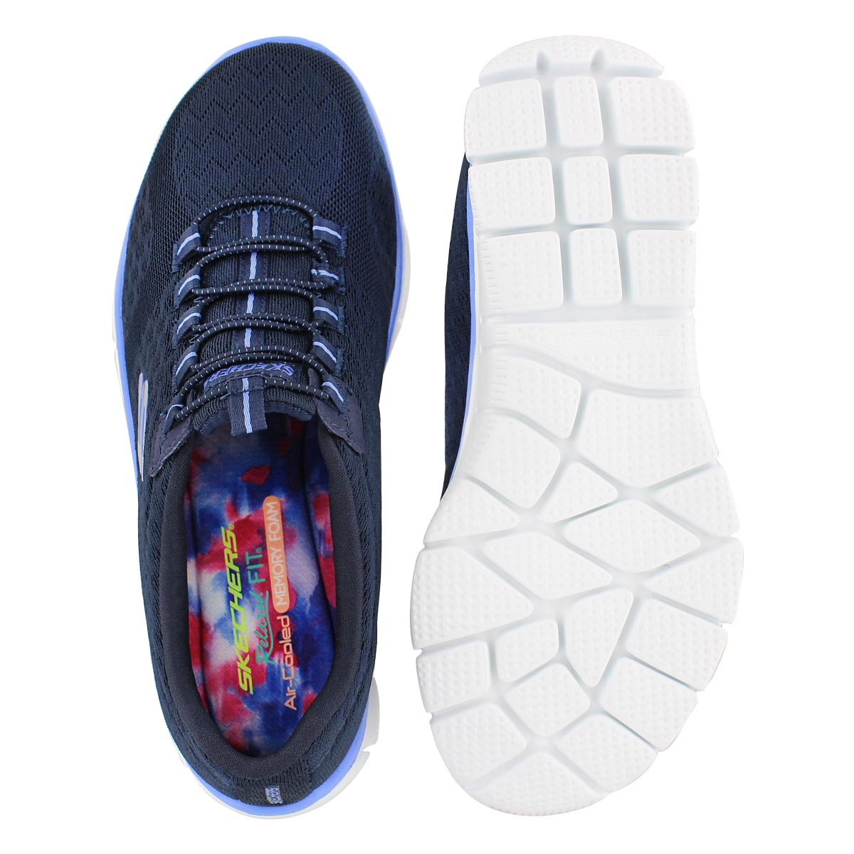 Lds Ocean View navy bungee running shoe