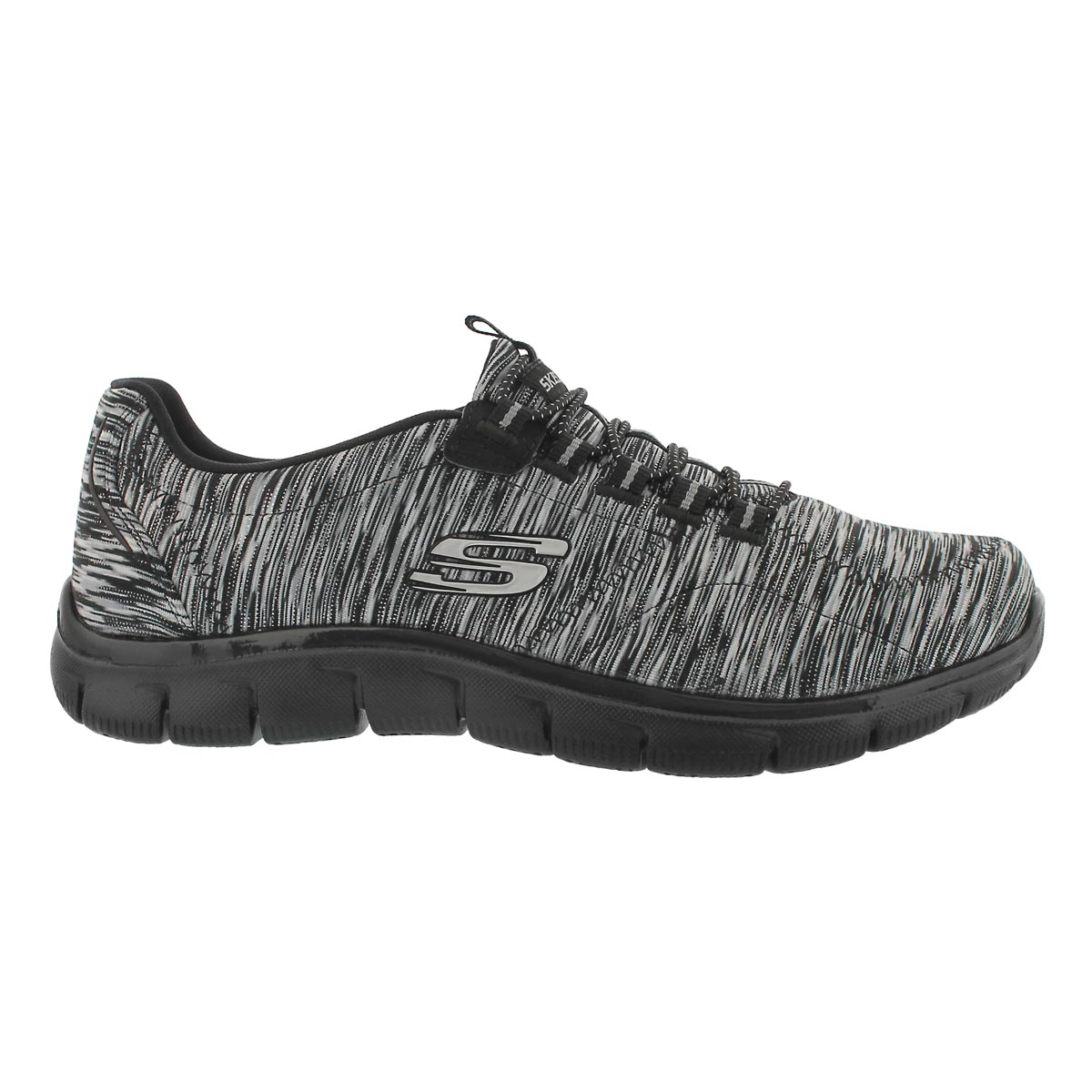 Lds Game On black/white bungee sneaker