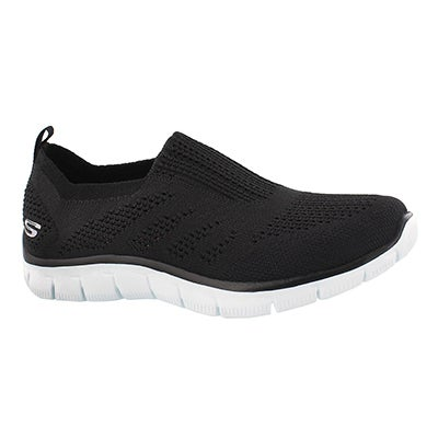 Skechers Women's EMPIRE INSIDE LOOK bk/wt slip on shoes