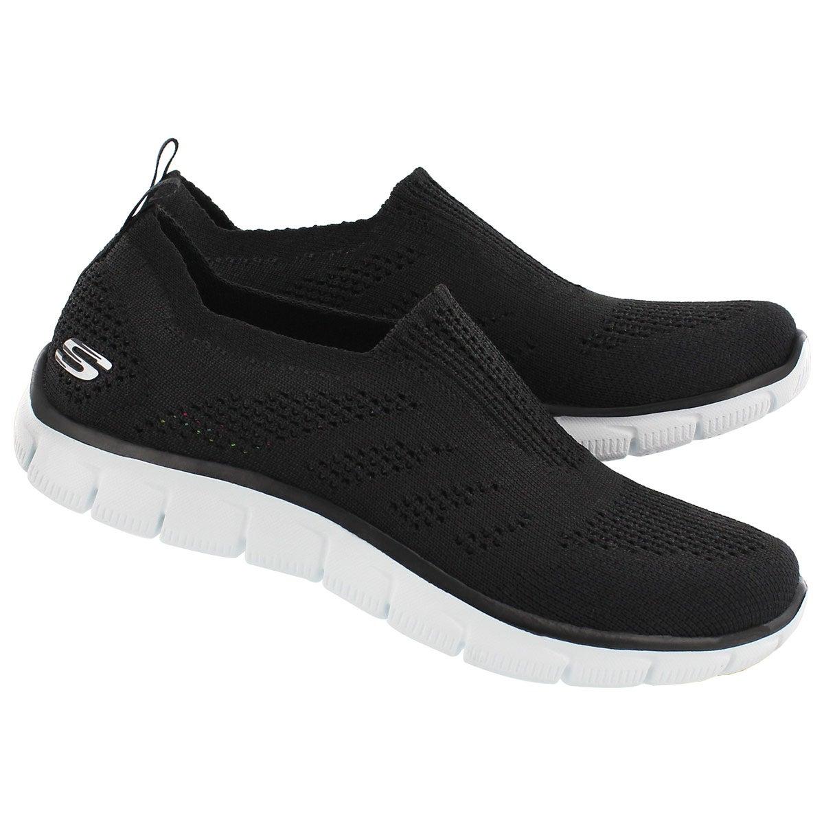 Lds Empire InsideLook bk/wt slip on shoe