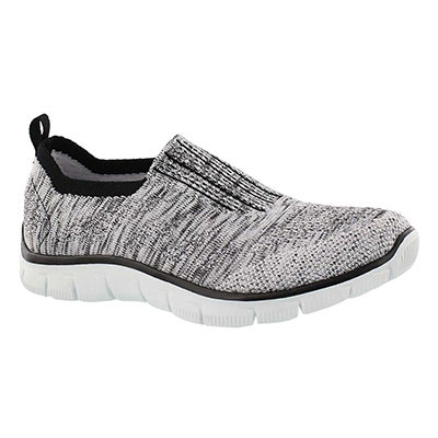 Skechers Women's EMPIRE INSIDE LOOK black/wht slip on shoes