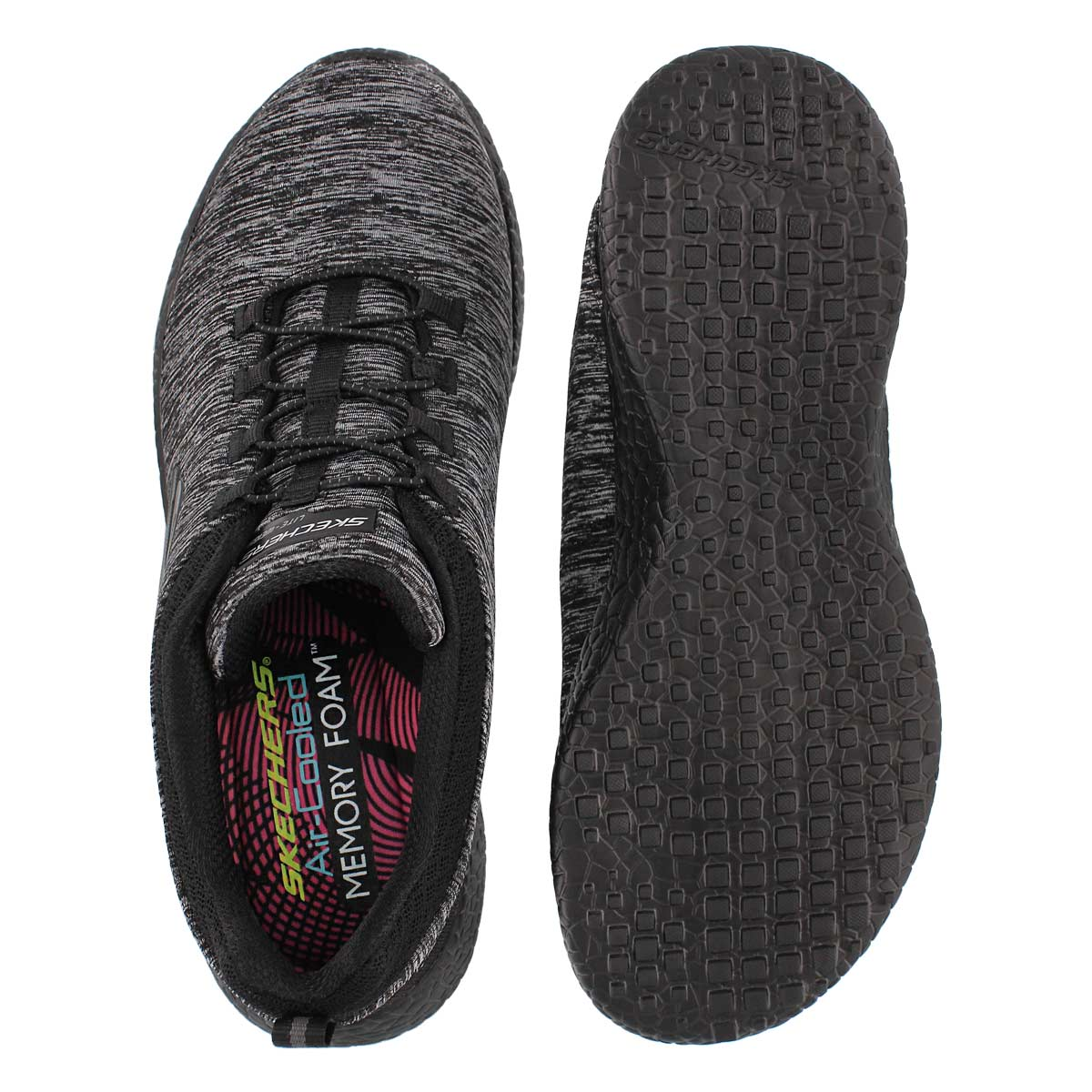 Lds Equinox black bungee running shoe