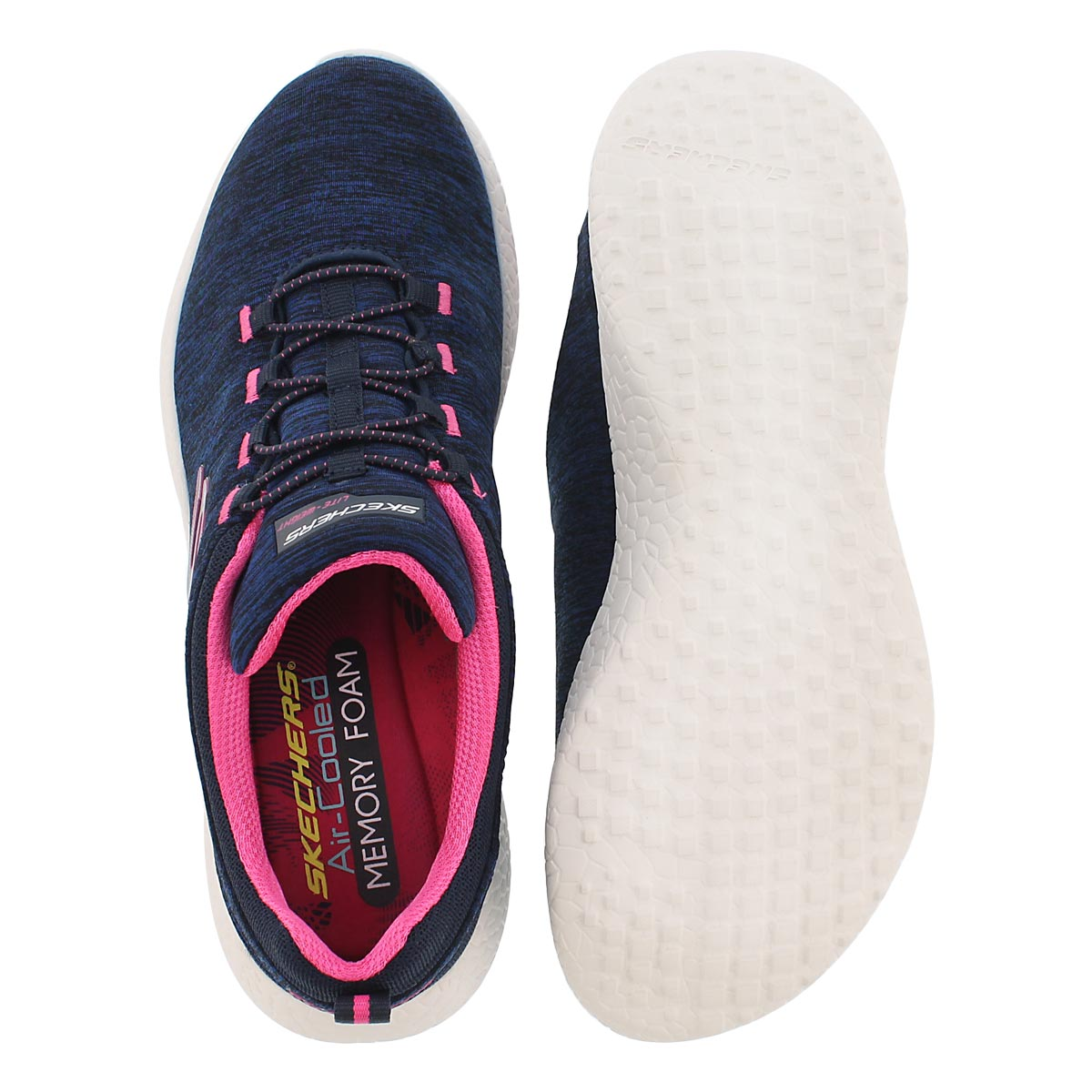 Lds Equinox nvy/pnk bungee running shoe