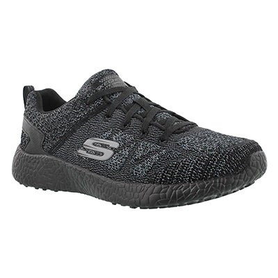 Skechers Women's BURST black lace up sneakers