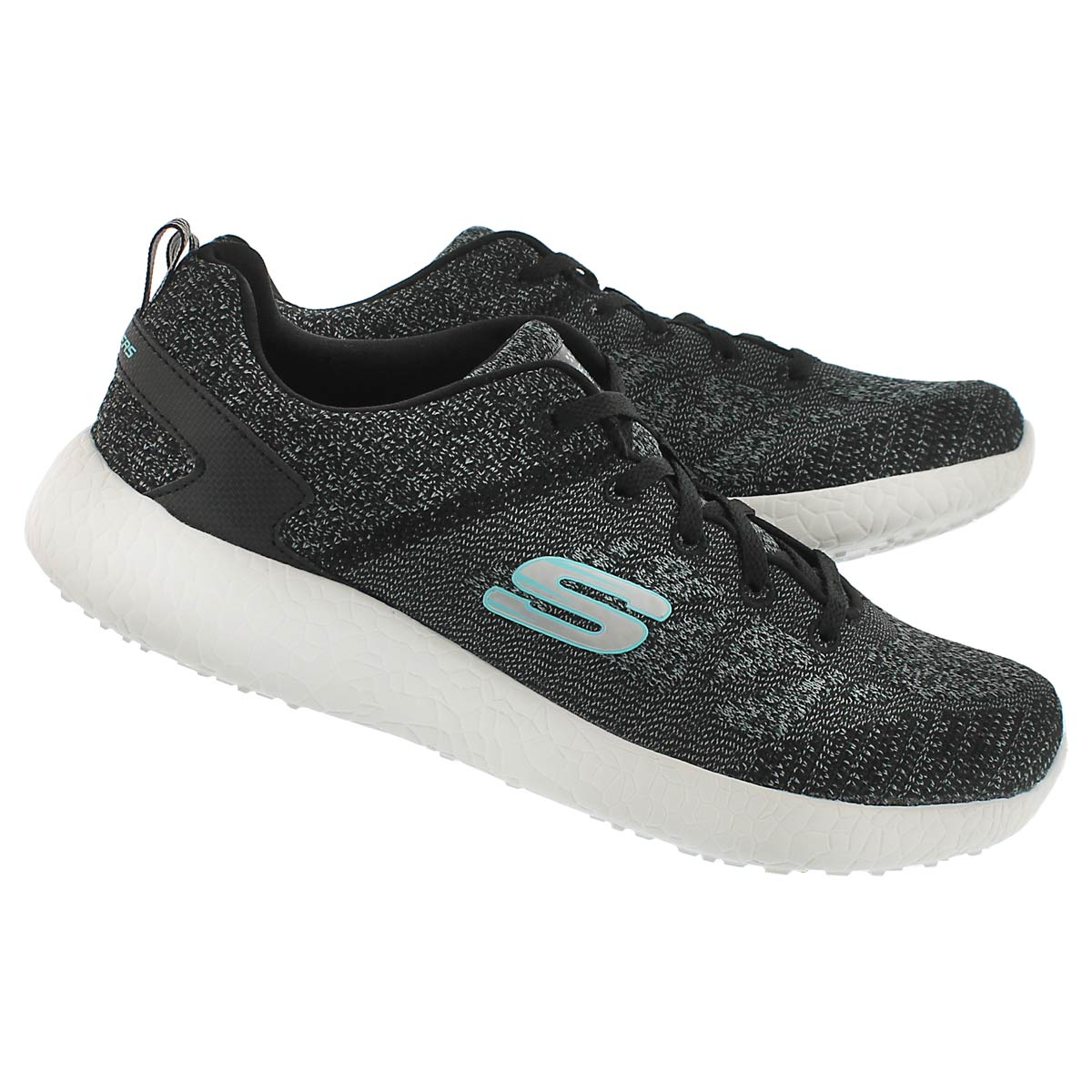 Lds Burst black lace up running shoe