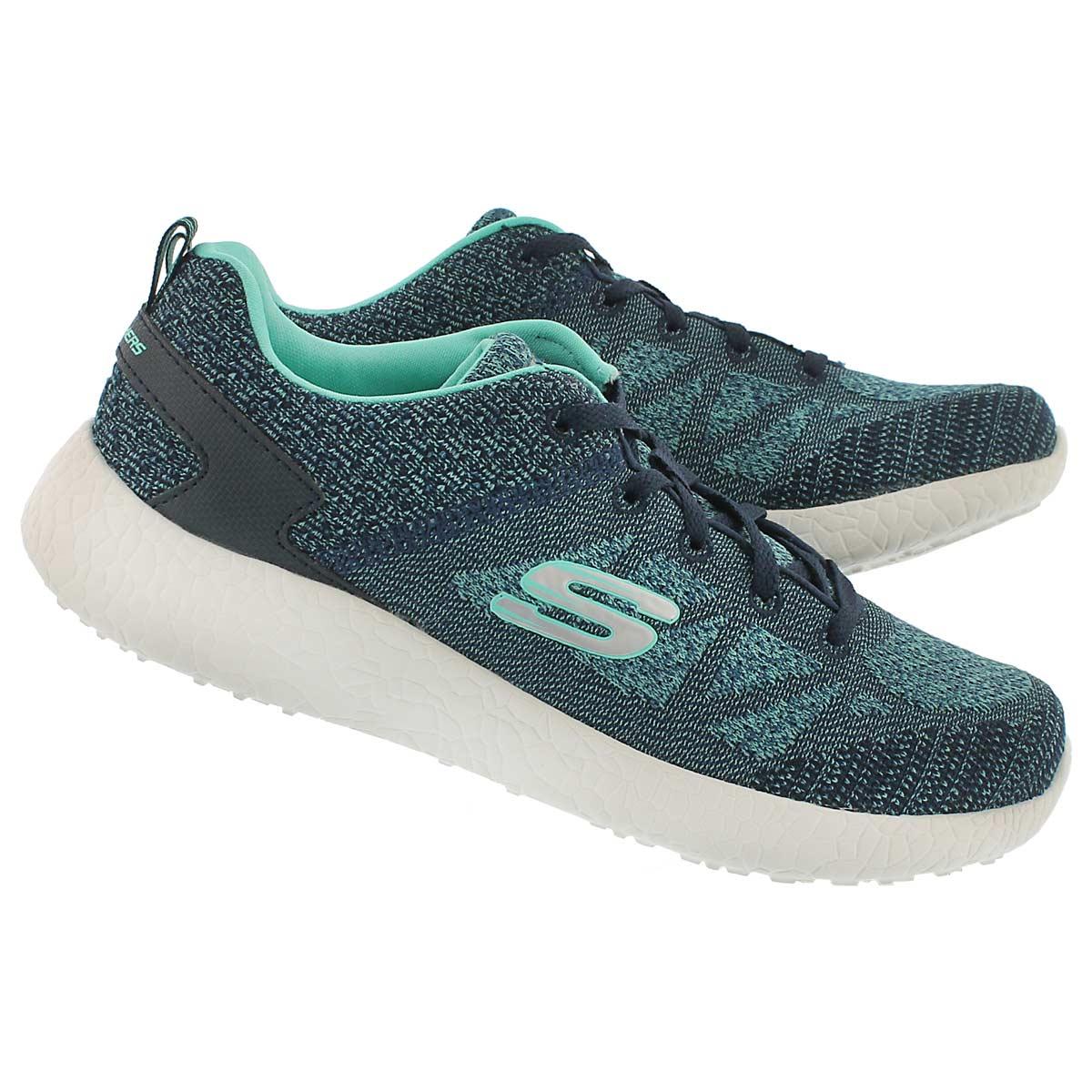 Lds Burst navy lace up running shoe