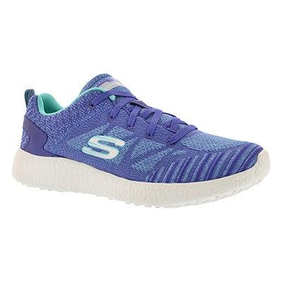 Lds Burst purple lace up sneaker