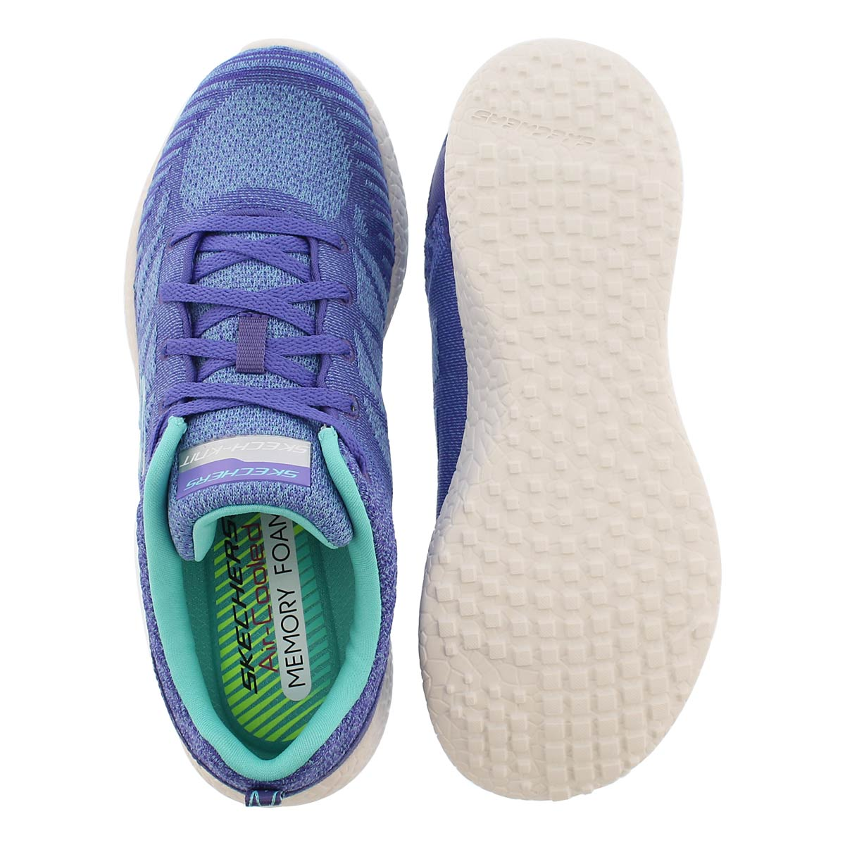 Lds Burst purple lace up sneaker