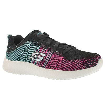 Skechers Women's ELLIPSE black/multi lace up running shoes