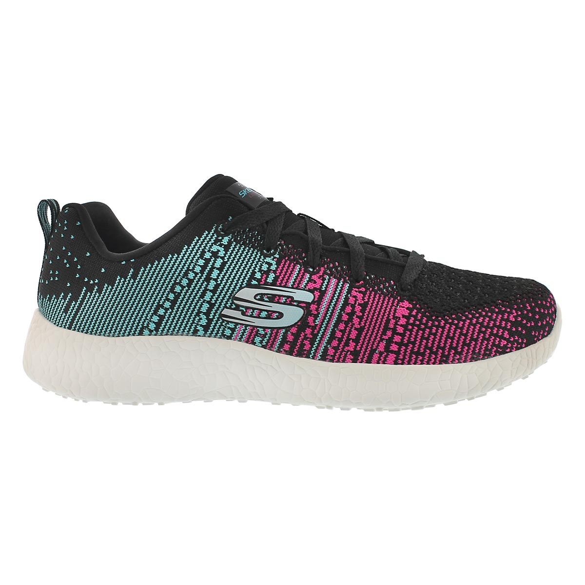 Lds Ellipse blk/mlt lace up running shoe
