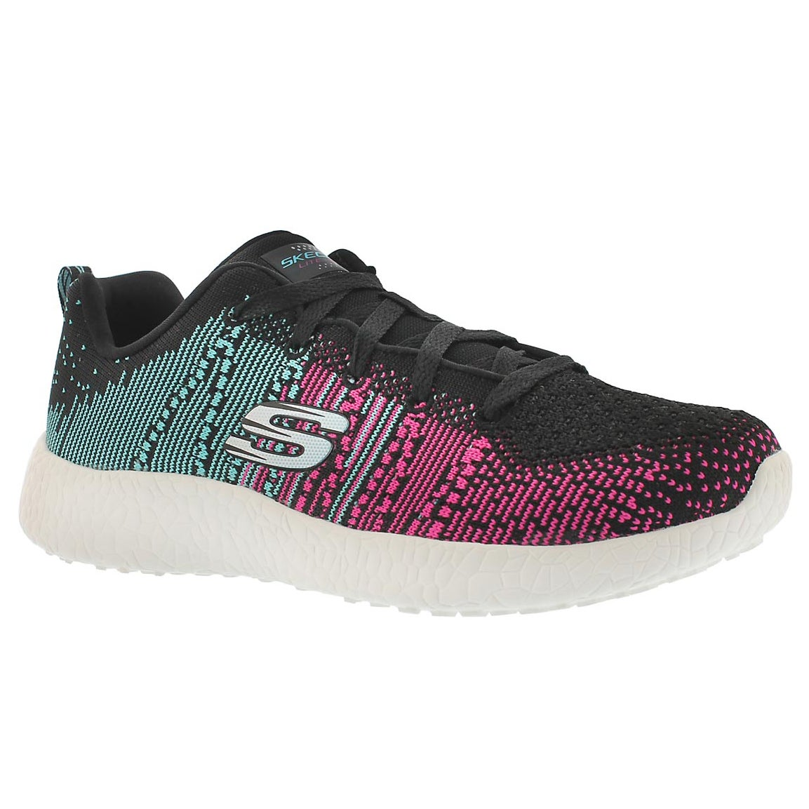 Women's ELLIPSE black/multi lace up running shoes