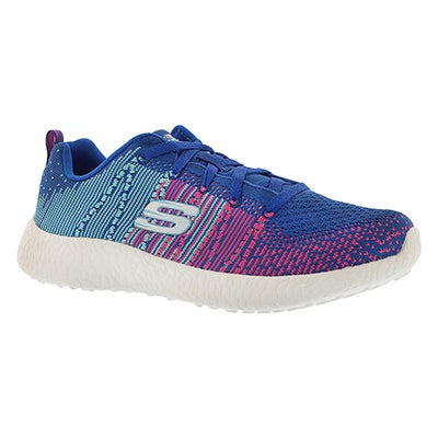 Skechers Women's ELLIPSE blue lace up sneakers