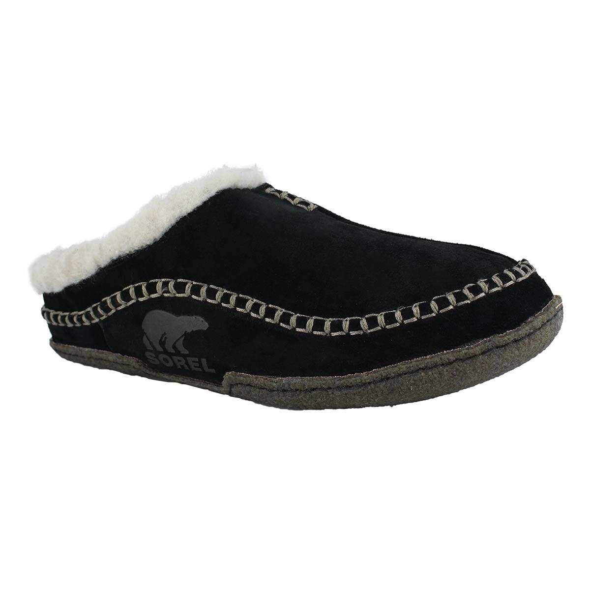 Mns Falcon Ridge blk/dk gry open slipper