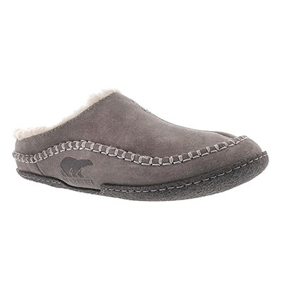 Sorel Men's FALCON RIDGE shale suede open back slippers