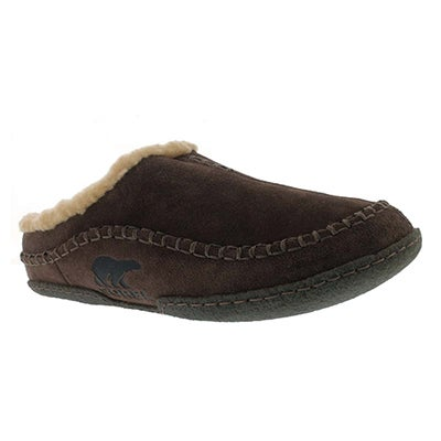 Sorel Men's FALCON RIDGE bark suede open back slippers