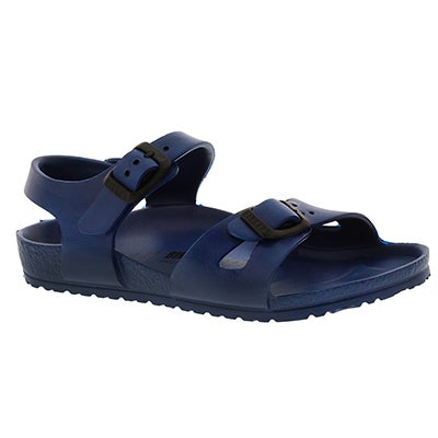 Birkenstock Kids' RIO navy 2 strap sandals - Narrow