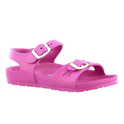 Birkenstock Girls' RIO pink 2 strap sandals - Narrow