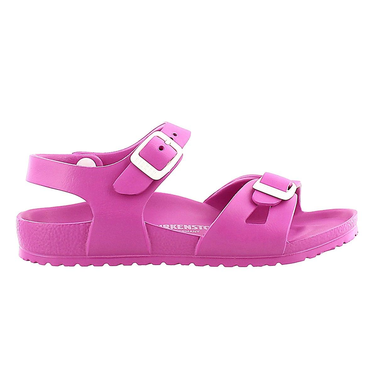 Grls Rio pink 2 strap sandal - Narrow