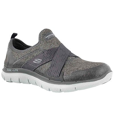 Lds Bright Eyed charcoal slip on sneaker