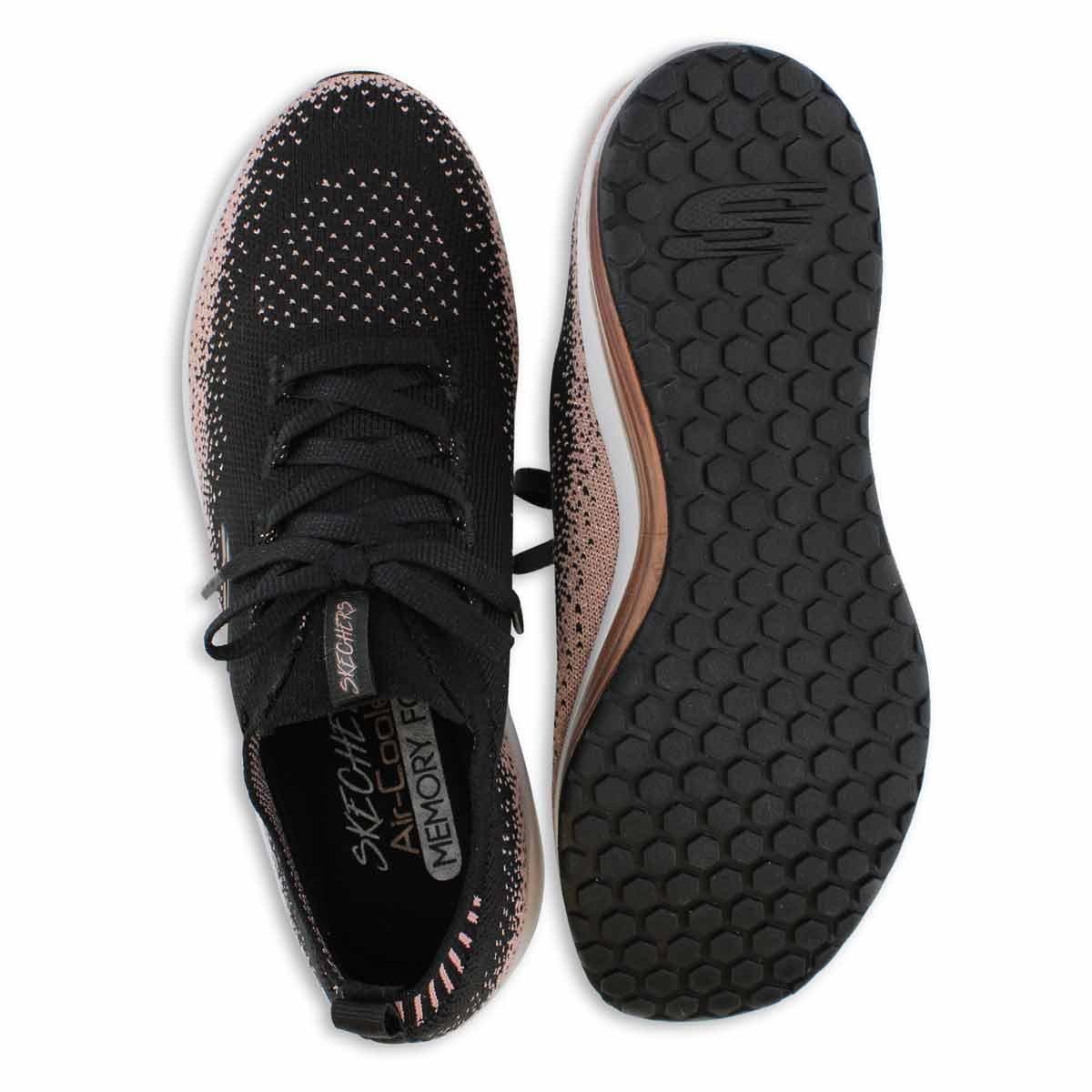 Lds Skech-Air Element blk/rsgld sneaker