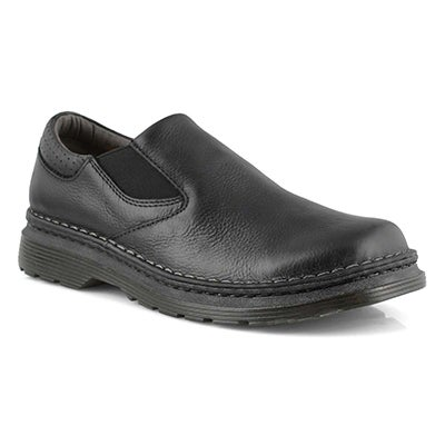 Mns Orson black plain toe slip on