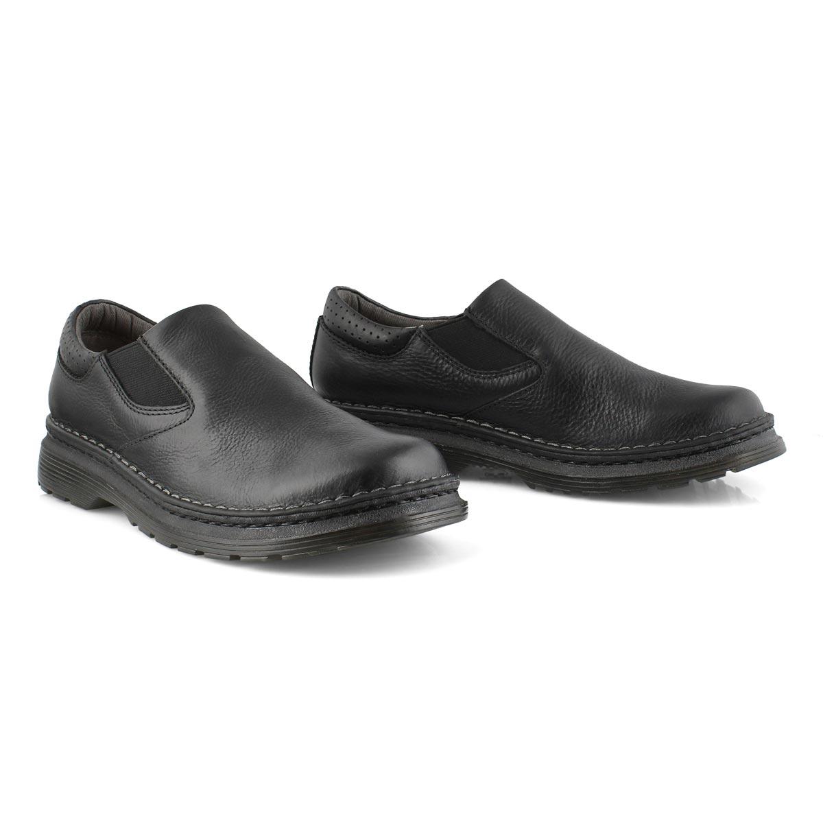 Mns Orson black plain toe slip on