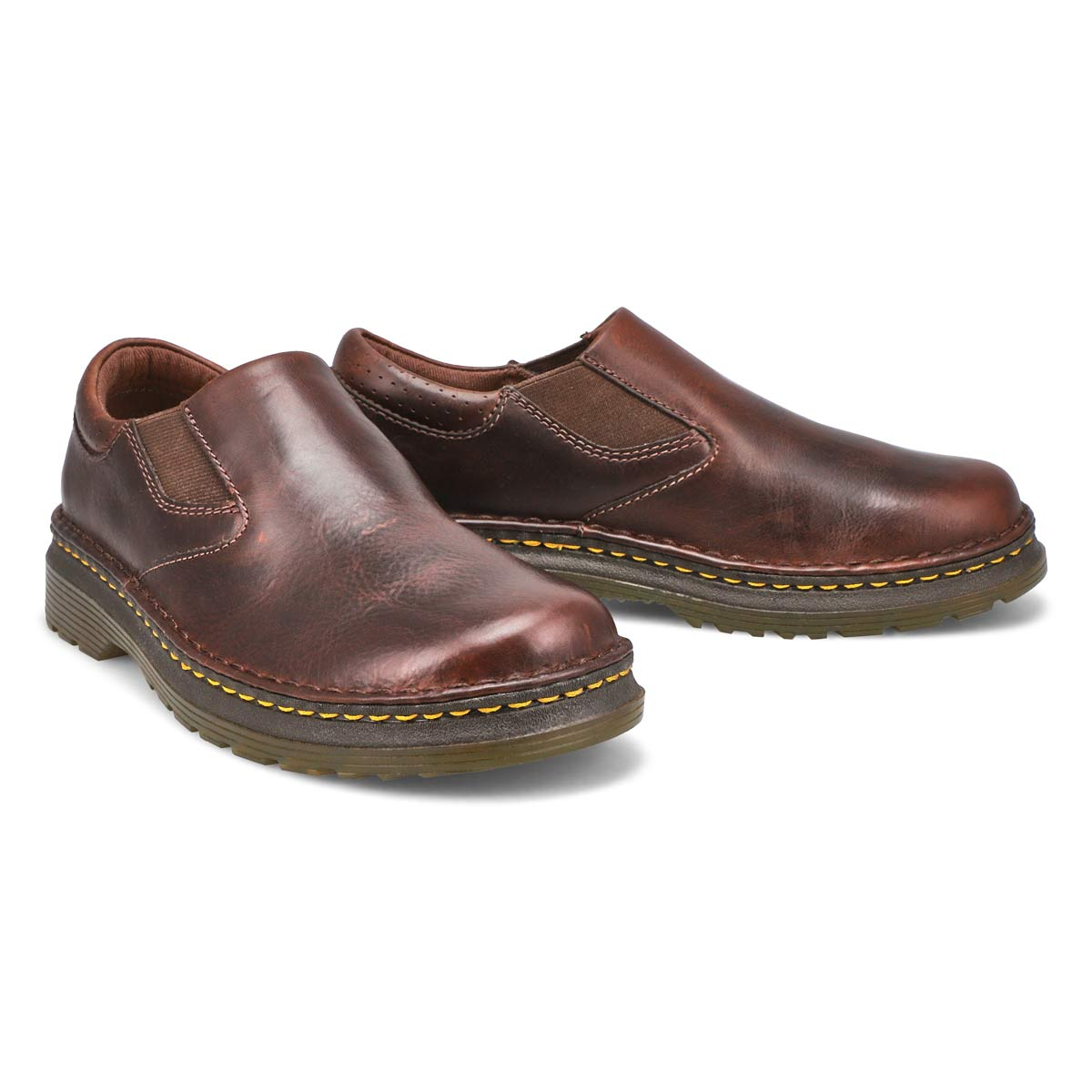 Mns Orson dk brown plain toe slip on