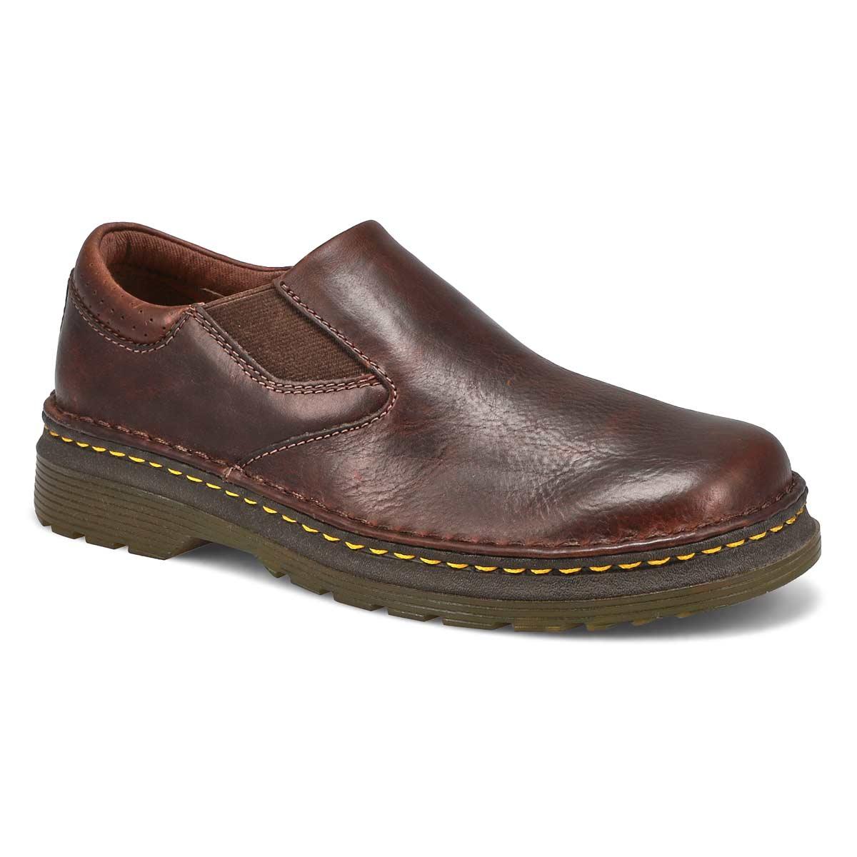 Mns Orson dk brown plain toe slip on
