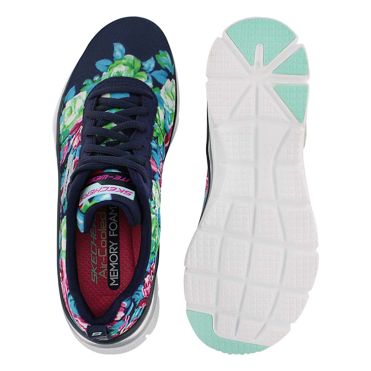 Lds Fashion Fit nvy lace up running shoe