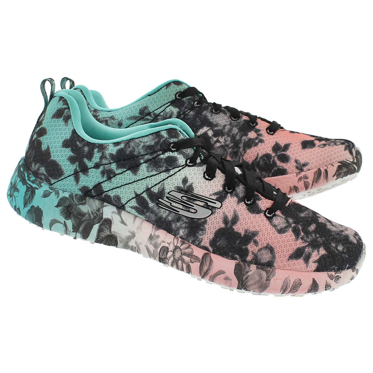 Lds Burst multi coloured lace up sneaker