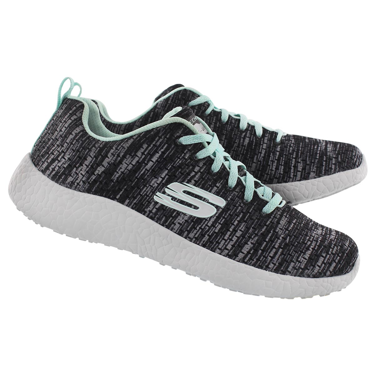 Lds New Influence blk/blu sneaker