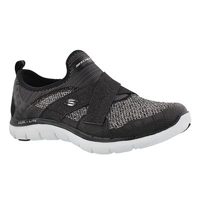 Skechers Women's FLEX APPEAL 2.0 NEW IMAGE black sneakers
