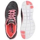 Lds Flex Appeal 2.0 bk/pk lace up runner